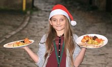 Gracie McNulty, 10, opens family cafe to serve dinner for 50 homeless to keep her dead father's promise