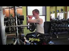 This guy is incredible → Has cerebral palsy, can't talk, can barely walk or move his arms…still works out.