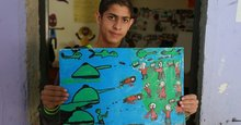 Refugee children paint the wars they've survived