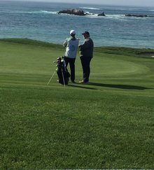 A rookie caddie's experience inside the ropes at Pebble Beach