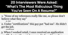 20 Interviewers Were Asked: 'What's The Most Ridiculous Thing You've Seen On A Resume?'