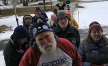 MANCHESTER DIVIDED: FIRST IN LINE FOR BERNIE