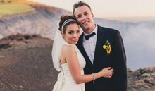 Storm chaser Reed Timmer, Maria Molina wed near active volcano