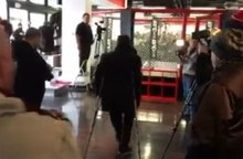 Video: Headliner Dominick Cruz arrives to UFC workouts on crutches