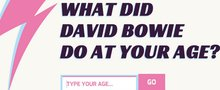 This David Bowie website will make you realise what an amazing life he led