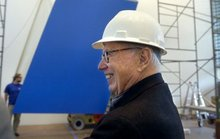 Ellsworth Kelly, who died Sunday, gave Grand Rapids Art Museum its signature work
