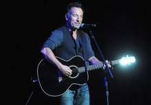 Springsteen auctions guitars, lasagna for veterans