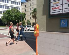 Some parking meters in Pasadena are repurposed to help homeless