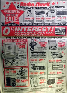ALL the 15 products listed on this 1991 Radio Shack Ad can be done on the iPhone