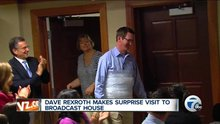 Chief Meteorologist Dave Rexroth surprises Channel 7 staff with first visit since fireworks accident