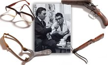Weapons and personal items belonging to the Kray twins, Ronnie and Reggie revealed