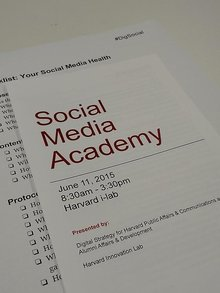 Harvard Social Media Academy: @Sree's Talk, Storified