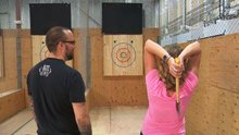 Calgary's axe throwing league gaining popularity