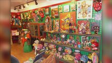 Local folk artist showcases recyclable art in Nob Hill
