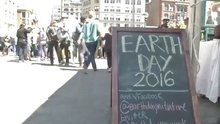 Environmentalists Celebrate an Early Earth Day at Union Square