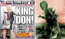 PIERS MORGAN: If Trump is a raging King Don then Clinton is that scary, cold-blooded monster, Hill-Zilla. And right now my money's on the hairy beast