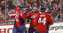 T. J. Oshie's hat trick puts Capitals over Penguins in Game 1 overtime