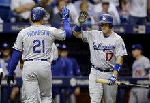 Final: Dodgers' offense returns in 10-5 win over the Rays