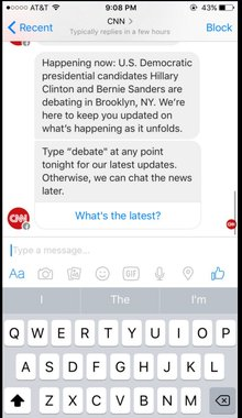 An interview with CNN's head of social media on partnering with Facebook Messenger