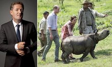 PIERS MORGAN: The sight of Kate and William feeding a baby rhino may be cute but when you consider that there are two stuffed ones sitting in Sandringham the hypocrisy makes my stomach churn   Daily Mail Online