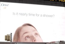 Dove's Smart Billboard Turns a Rainy Day Into a Gigantic Times Square Shower