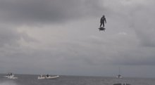 Franky Zapata Sets World Record for Longest Hoverboard Trip