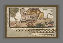 Roman floor mosaics with violent scenes pack a punch at Getty Villa