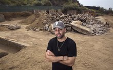 Construction of donated basketball court at Runyon Canyon Park halted