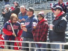 Baseball Fans Brave Cold, Wind For Twins Home Opener