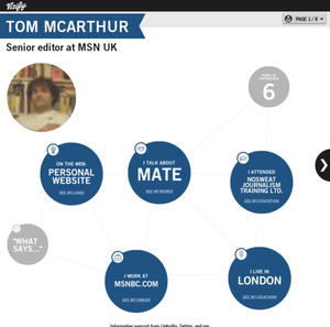 Tom McArthur&#39;s Vizify Bio