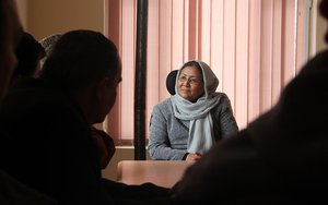 Afghan woman VP candidate has a place on the ticket - but not at the table