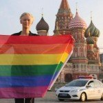 International News | Tilda Swinton waves gay rainbow flag in Red Square