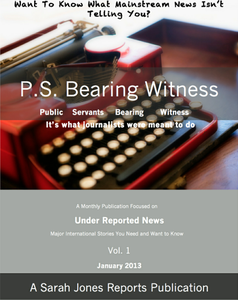 P.S. Bearing Witness Vol. 1 January 2013 - A Sarah Jones Reports Publication