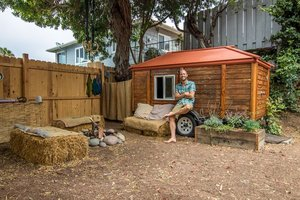 Rob Greenfield thrives in a $950 garden shed