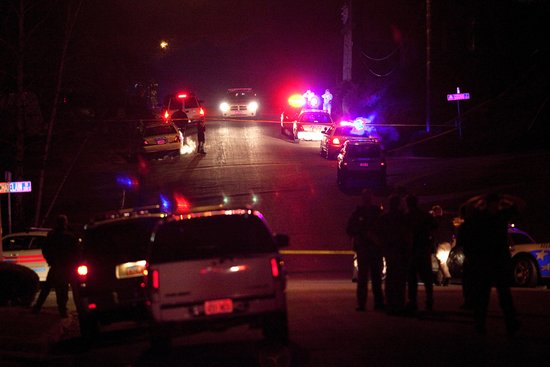 Officer dies of gunshot wound; five more injured